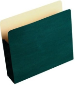 Wilson Jones Colorlife Recycled (50%) Expanding File Pockets, Letter Size, 13cm - 0.6cm Expansion, Green, 10/box, WCC66G