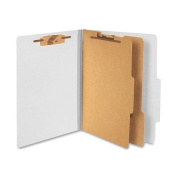 ACCO 15056 ACCO Pressboard 25-Point Classification Folders, Ltr, 6-Section, Mist GY, 10/Box