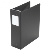 Wilson Jones Large Capacity Hanging Vinyl Binder, 5.1cm /650 Sheet Capacity, Black