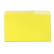 Universal 10524 - Coloured File Folders, 1/3 Cut One-Ply Top Tab, Legal, Yellow/Lt Yellow, 100/Box