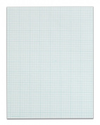 TOPS Cross Section Pad, 1 Pad, 10 Squares/Inch, Quadrille Rule, Letter Size, White, 50 Sheets/Pad, 1 Pad