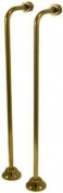 Kingston Brass CC462 Single Offset Bath Supply Lines 60cm Length, Polished Brass