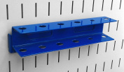 Wall Control Pegboard Screwdriver Holder Bracket Slotted Metal Pegboard Accessory for Wall Control Pegboard and Slotted Tool Board - Blue