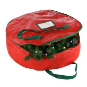 Elf Stor Premium Red Holiday Christmas Wreath Storage Bag For 60cm Inch Wreaths by Elf Stor