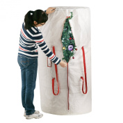 Elf Stor Premium White Holiday Christmas Tree Storage Bag, Large