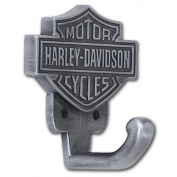 Harley-Davidson® Antiqued Pewter Bar & Shield Coat Hook. HDL-10100