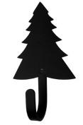 Iron Small Pine Tree Decorative Wall Hook Sm - Black Metal