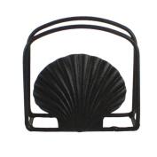 Seashell Napkin Holder- Black - Rustic Metal - 13cm X 11cm X 5.1cm