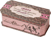 Cottage Garden Sister Pink Belle Papier Music Box / Jewellery Box Plays How Great Thou Art