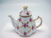 Vintage Victorian Desert Rose Tea Pot Jewellery Box