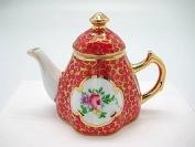 Vintage Victorian Antique Red Tea Pot Jewellery Box