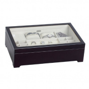 Sheraton Glass Top Musical Wooden Jewellery Box in Java Finish (Java)
