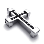 U2U High Quality Classic Stainless Steel Jewellery Ring - The Iron Cross Rings -Silver & black
