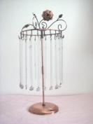 Rose on Top 43cm H Copper Colour Necklace Holder ~ Necklace Tree ~ Necklace Organiser~Necklace Stand Jewellery Display