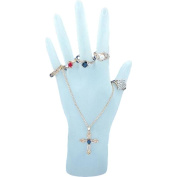 Frosted Hand Chain Ring Display Jewellery Showcase