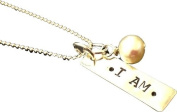 I AM Religius Sterling Silver necklace with pearl