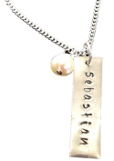 Tag with Pearl Sterling Silver Necklace - Mommy Gift