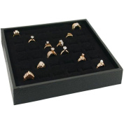 Jewellery Display Case Box 36 Ring Velvet Insert New