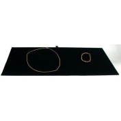 Black Velvet Jewellery Chain Display Pad Showcase Tray Insert 36cm
