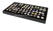 New Large Cufflinks Storage Display Black Stackable Tray Case By Jbt