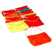 12 Jewellery Chinese Silk Pouches Chain Gift Display 11cm
