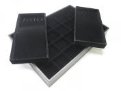 Black Velvet 2 Layers Multi-purpose Fashion Jewellery Display Case