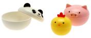 Kotobuki Mini Condiment Containers for Bento Box, Panda, Piggy and Chick