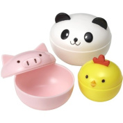 CuteZCute Mayo Cups for Bento Box Lunch, Mini, Panda, Chick and Pig