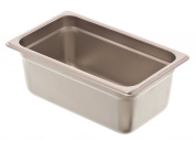 Browne Foodservice 88144 24-Gauge Stainless Steel Stack-A-Way Anti-Jam Steam Table Pan, 1/4 Size, 2.9l