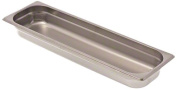 Browne Foodservice 22242L 22-Gauge Stainless Steel Stack-A-Way Anti-Jam Steam Table Pan, Half-Long Size, 3.8l