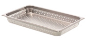 Browne Foodservice 8002P Stainless Steel Full Perforated Steam Table Pan, 6.4cm