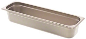 Browne Foodservice 22244L 22-Gauge Stainless Steel Stack-A-Way Anti-Jam Steam Table Pan, Half-Long Size, 6l