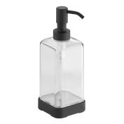 InterDesign Forma Soap Pump, Matte Black/Clear