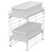 Under Sink Slide Tray Organiser- White