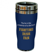 Tree-Free Greetings sg24524 Fighting Irish College Football Fan Sip 'N Go Stainless Steel Lined Travel Tumbler, 470ml
