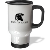 3dRose Molon Labe Come and Take it Travel Mug, 410ml, Stainless Steel