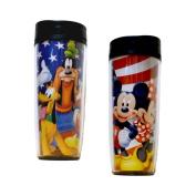 Disney USA Mickey Gang Minnie Goofy Donald Pluto Travel Mug