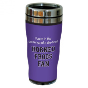 Tree-Free Greetings sg24903 Horned Frogs College Basketball Sip 'N Go Stainless Steel Lined Travel Tumbler, 470ml