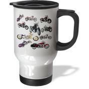 3dRose Picturing Harley-Davidson Motorcycles Travel Mug