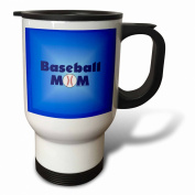 Deniska Designs Baseball - Baseball Mom Blue on Blue - Travel Mug