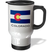 3dRose Colorado State Flag Travel Mug, 410ml