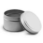Premium 120ml Silver Deep Metal Tin Assembled Set - 12 count
