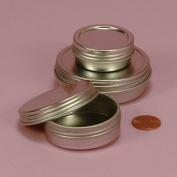 Screw Top Round Steel Tins, 120ml