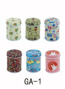 Set of 6 Home Kitchen Storage Containers Partysu MINI Tins Round Tea Tins