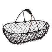 Stella Oblong Fixed Handle Wire Basket- Copper