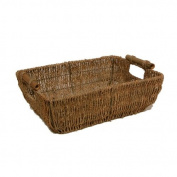 Seagrass Tray Basket with Bamboo Handles