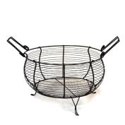 Round Wire Kitchen Basket with Handles