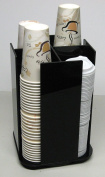 Spinning Cup Lid Holder dispenser beverage Organiser coffee cup Caddy organise your coffee counter with style