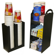 2 - Piece Combo Coffee Organiser and Cup or Lid Holder...One Great Price! Can be used Separately or Together...Perfect for Organising Office Coffee Breakrooms , Waiting Rooms, Churches & Hotels. Made in the USA! by PPM.