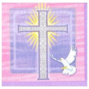 Special Blessings Pink Beverage Napkin 16ct